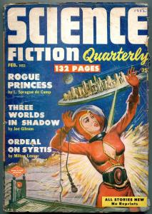 Science Fiction Quarterly Pulp February 1952- Rogue Princess VG