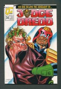 Judge Dredd #34  / 9.2 NM - 9.4 NM  /  October 1989