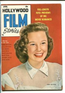 HOLLYWOOD FILM STORIES #1-1950-JUNE ALLYSON-SOUTHERN STATES PEDIGREE-vf minus