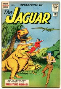 Adventures of the Jaguar #10 1962- Archie comics- Dinosaur cover- VG/F