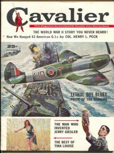 Cavalier 9/1960-Fawcett-Jack Davis-Tina Louise-pulp thrills-43 GI's Hanged-FN