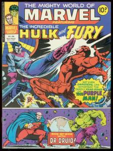 MIGHTY WORLD OF MARVEL #266-FURY-HULK-BRITISH VG