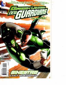 Lot Of 2 DC Comic Books Green Lantern New Guardians #19 and Girfter #0 MS20