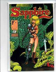 Sapphire #1 - sexy barbarian girl - aircel - Barry Blair - Very Fine