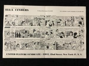 Ella Cinders Newspaper Comic Dailies Proof Sheet 1/21/52