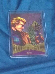 1995 FLEER MARVEL METAL #57 BLAZE NMMT/MINT