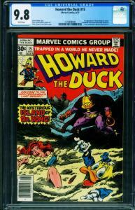 Howard The Duck #15 CGC 9.8 1977-Marvel-1st Dr. Bong 1279898009