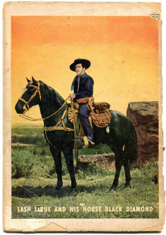 Lash Larue Western #4 1950-PHOTO COVERS- Fawcett Golden Age G