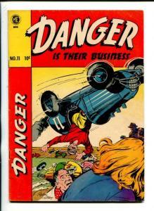 DANGER IS THEIR BUSINESS #11-1952-ME-OGEN WHITNEY-MIDGET AUTO CRASH-fn
