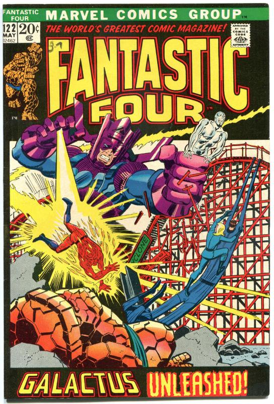 FANTASTIC FOUR #122, FN/VF, Silver Surfer, Galactus, 1961, more FF in store, QXT