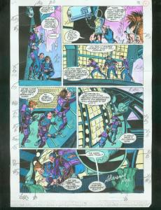 ORIGINAL D.C. COLOR GUIDE ROBIN ANNUAL #2 PG 11-SIGNED VG