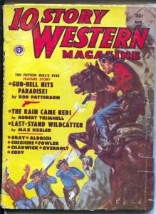 10 Story Western 4/1952-Popular-Norman Saunders-Pecos Kid-pulp thrills-VG