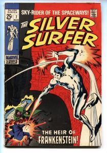 THE SILVER SURFER #7 1969-FRANKENSTEIN-JOHN BUSCEMA ART g/vg