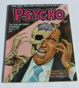 Psycho #1 FN/VF 1971 Horror Magazine Dressed to Kill Skin and Bones Syndrome