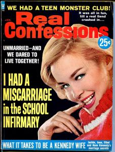 Real Confessions 1/1965-Sterling-Kennedy wives-Teen Monster Party-pulp-FN