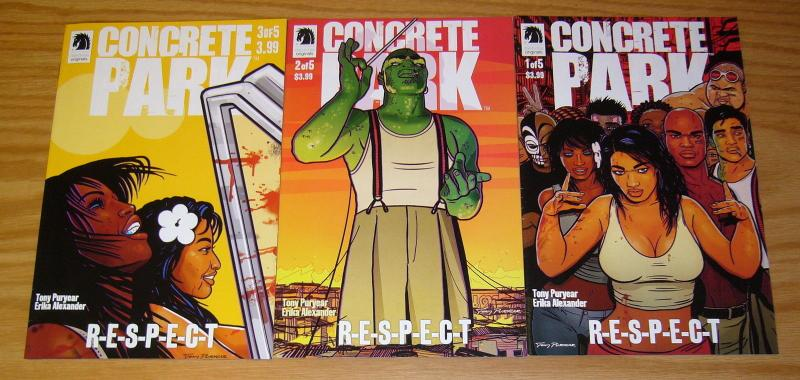 Concrete Park: RESPECT #1-3 VF/NM complete series by living single actress
