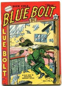 BLUE BOLT V.2 #9 1942-DICK COLE-WHITE RIDER &  SUB-ZERO VF-