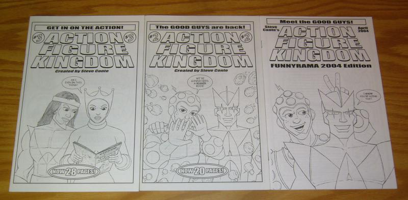 Steve Conte's Action Figure Kingdom #1-3 VF/NM complete set - rare indy comics 2