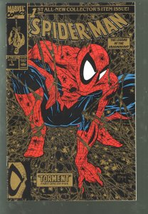 SPIDERMAN #1 GOLD NM 9.4-9.8 1990(2 copies) McFarlane.
