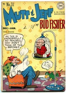 Mutt and Jeff #31 1947-Parrot cover- DC Golden Age- Bud Fisher FN