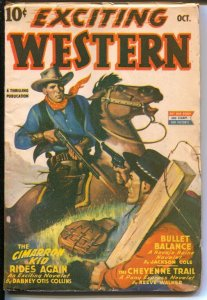 Exciting Western 10/1943-Thrilling- Alamo Paige of Pony Express-Navajo Raine-...