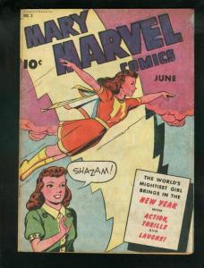 MARY MARVEL COMICS #2 1946-FAWCETT-SHAZAM OCTOPUS STORY FN+