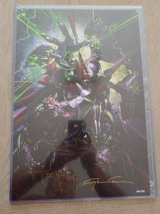 SPAWN PRINT SIGNED BY MCFCARLANE & CLAYTON CRAIN. ONLY 150 PRODUCED!!!!