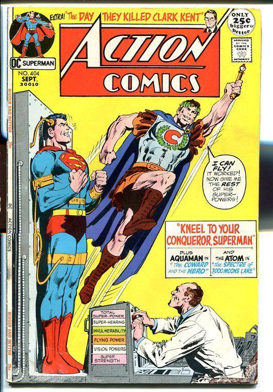ACTION COMICS #404 197-SUPERMAN-cool issue! VG