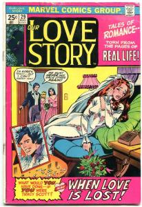 Our Love Story #29 1974- Marvel Bronze Age Romance- Bride cover VG