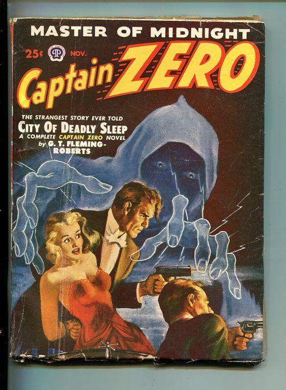CAPTAIN ZERO-#1-NOV 1949-PULP-LAST HERO-SOUTHERN STATES PEDIGREE-vg