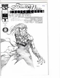 Rising Stars (1999) 1 Black and White Sketch Cover NM (9.4)