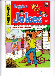 Reggie's Wise Guy Jokes #7 (Aug-69) VF- High-Grade Reggie, Archie, Jughead