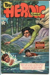 Heroic #90 1954-Famous Funnies-Korean war-violence-VF