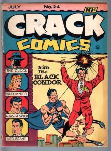 CRACK COMICS #24-QUALITY-1942-BLACK CONDOR-FINE PLUS-GOLDEN AGE COMIC FN+