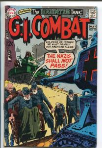 G.I. COMBAT #135 1967-DC-WWII STORIES- HAUNTED TANK STORY-vf