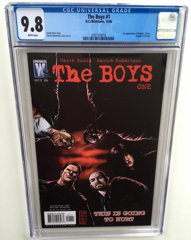 THE BOYS #1, CGC = 9.8, NM/M, 2006, Garth Ennis, 1st Butcher, more in store