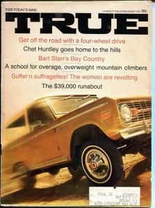 True 8/1970-Fawcett-Bart Starr-NFL-Chet Huntley-pulp thrills-VG