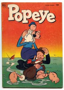 Popeye Comics #22 1952- Bud Sagendorf- Dell Golden Age VG-