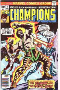Champions, The #10 (Sep-76) FN/VF Mid-High-Grade Ghost Rider, Hercules, Black...