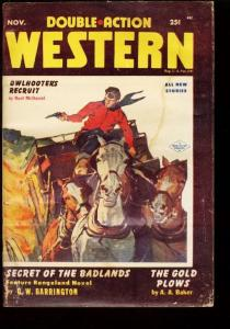 DOUBLE ACTION WESTERN 1954 NOV END OF THE PULP ERA G/VG