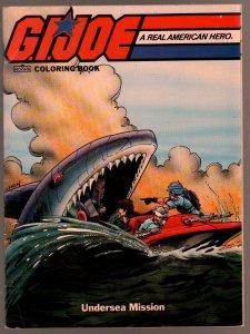 G.I. Joe Coloring Book 1987-Undersea Mission-Shark cover-Chen-VF