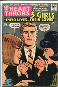 HEART THROBS #114 1968 DC-TORRID ROMANCE-GREAT COVER VG