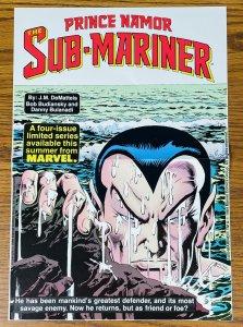 1984 PRINCE NAMOR THE SUB-MARINER PROMOTIONAL POSTER 16X11 Marvel Comics NM