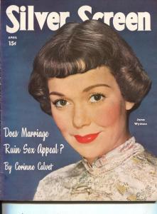 Silver Screen-Jane Wyman-Lucille Ball-Bob Hope-Clark Gable-April-1950