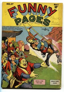 Funny Pages #37 1940-Asian Stereotype cover-Signed on cover-Centaur-rare