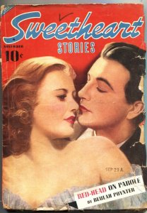 SWEETHEART STORIES-1939 NOV-REDHEAD ON PAROLE-SPICY PULP FICTION--SO RARE
