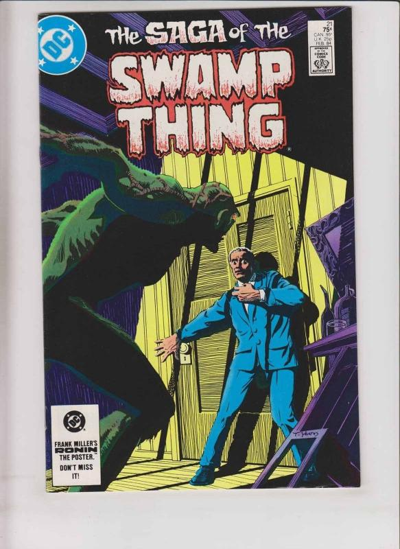 Saga of the Swamp Thing #21 VF- alan moore - steve bissette - new origin story