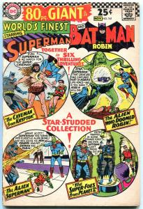 World's Finest #161 1966-80 page giant- Superman- Batman VG