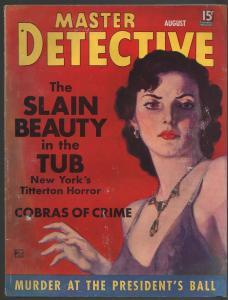 Master Detective 8/1936-Dalton Stevens-Good Girl Art-violent pulp crime-FR/G