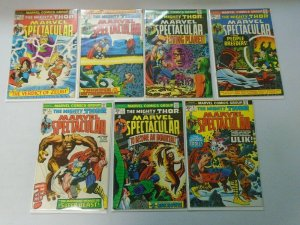 Marvel Spectacular lot 14 different Thor comics from #2-19 avg 6.0 FN (1973-75)